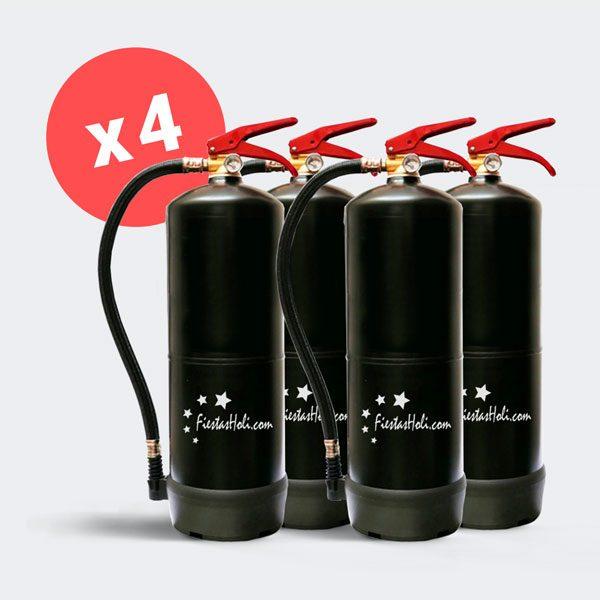 4 Extintores de 5 kilos