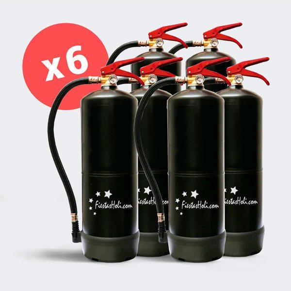6 Extintores de 5 kilos